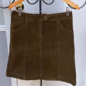 H&M Olive Corduroy Skirt